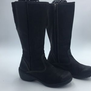 LL Bean Womens Leather Winter Boots Black